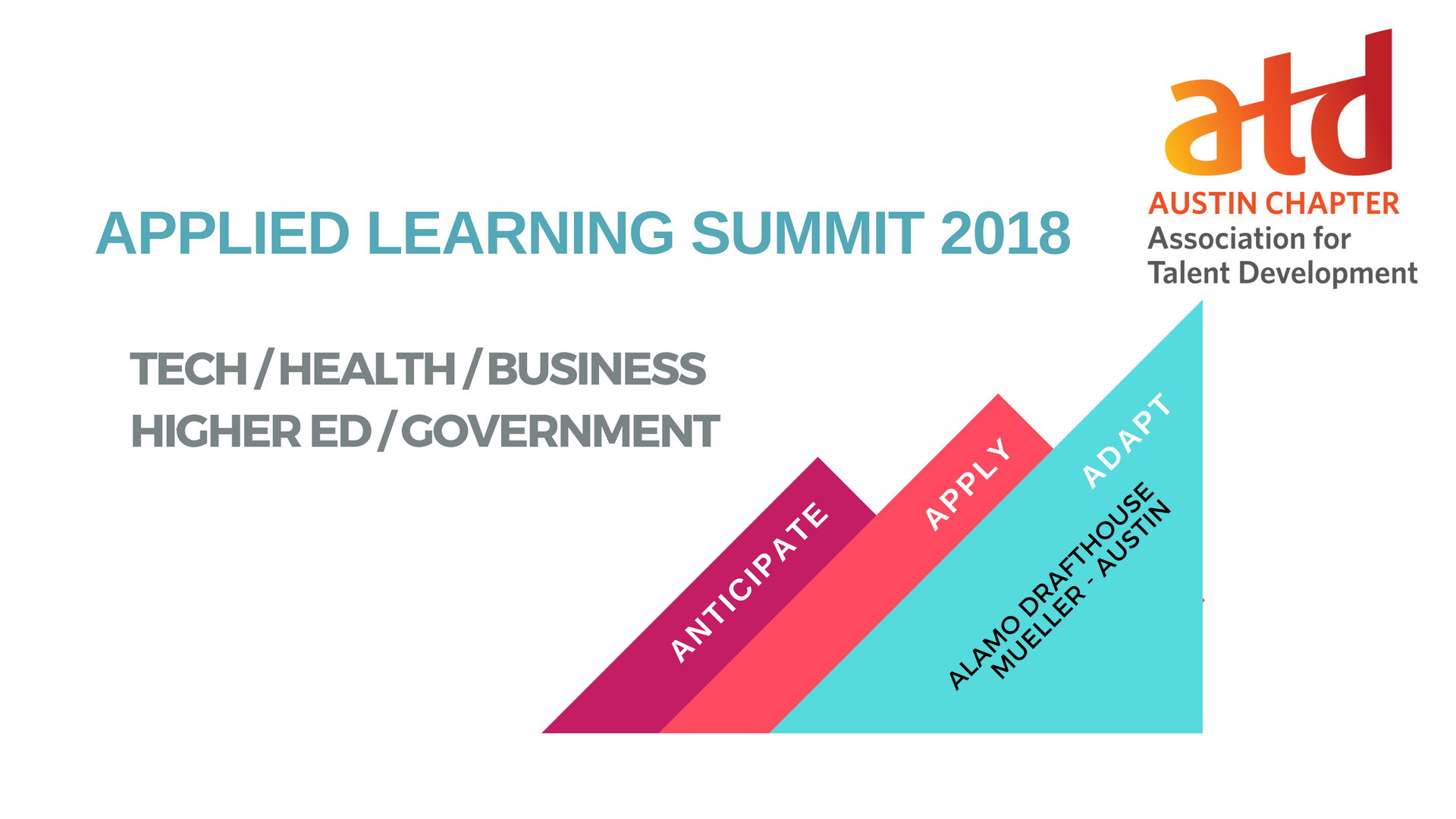 Applied Learning Summit 2018 banner